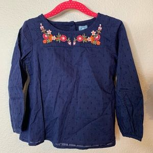 NWT Girl's Baby Gap Embroidered Long Sleeve Top